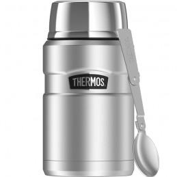 TTermos pentru mâncare cu lingură pliabilă și ceașcă - oțel inoxidabil