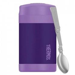Termos copii pentru mâncare cu lingură - violet