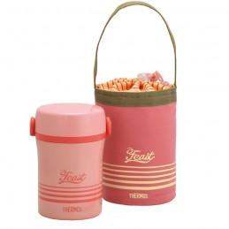Casetă prânz copii - roz