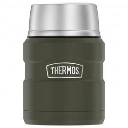 Termos pentru mâncare cu lingură pliabilă și cană - Verde armată