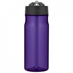 Sticlă pentru hidratare cu pai - violet