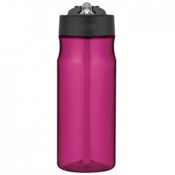 Sticlă pentru hidratare cu pai - purpuriu