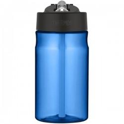 Sticlă pentru copii cu pai pentru hidratare - albastru deschis