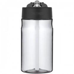 Sticlă pentru copii cu pai pentru hidratare - clară